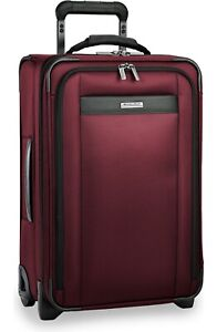 NEW Briggs & Riley Transcend 400 Tall 22-Inch Wheeled Carry-On - Merlot Red