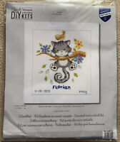 Playful Kitten Birth Announcement Vervaco Counted Cross Stitch Kit 14 Ct