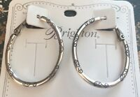 Brighton Silver Oval EAR CHARM HOOP earrings NWT Earring
