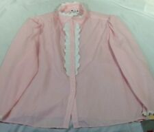 St1320 Lane Bryant Women's Pink Long-Sleeved Button-Down Shirt Size 42