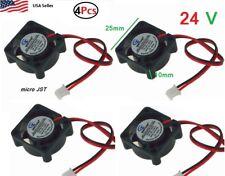 4Pcs 24V 2Pin 25mm 25x25x10mm 2.5cm 5 Blades Mini Small DC Brushless Cooling Fan