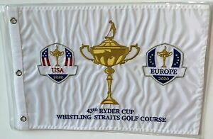 2021 Ryder Cup Flag whistling straits golf cup logo usa europe embroidered new !