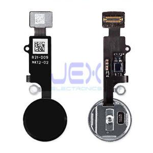 Black Home Button/Touch Fingerprint ID Sensor Flex Cable For iPhone 7, 8 Plus SE