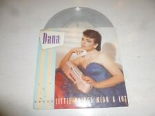 "DANA - Little things mean a lot - 1985 UK solid centre 7"" single White Vinyl"