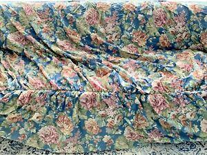 "Sure Fit  New Vintage  Sofa Slipcover Hillsboro Blue Fits 78""-96"" Sofa USA  MINT"