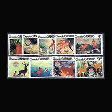 Grenada Grenadines, Sc #411-19, Mnh, 1980, Cpl. set, Disney, Christmas, Di231*F