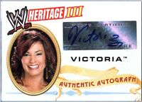 WWE Victoria 2007 Topps Heritage III Authentic Autograph Card