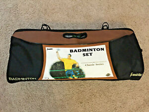 Franklin Sports Classic 4 Player Badminton Set with Bag and 14 Shuttlecocks