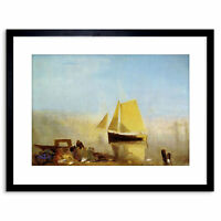 Painting Turner Fishing Boat Mist Old Master Framed Picture Art Print 9x7 Inch