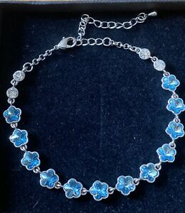 Swarovski Elements Blue Flower Bracelet