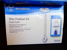 Westinghouse Lighting 70284 Single Light Mini-Pendant Kit with Nickel Finish