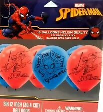 6 SPIDER MAN PARTY BALLOONS ~RED /BLUE~12