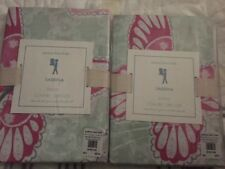 2 New Pottery Barn Kids Sabrina Butterfly Shams Pink Green