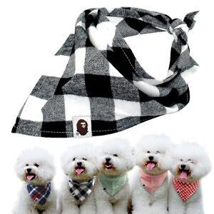 5pcs/lot Fabric Large Dog Scarfs Bandana Neck Scarf Pet Cat Puppy Neckerchief