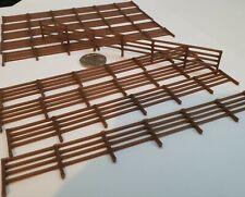 More details for scenery 1:76 oo gauge fencing -10 pack-uk[model railway] -dark brown*1.5m's