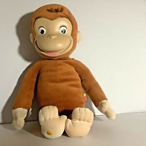 """Curious George Monkey Plush Doll Rubber Face 16"""" 2005 Marvel Toys no/tag"""
