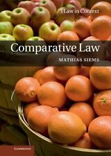 Comparative Law (law In Context): By Mathias Siems
