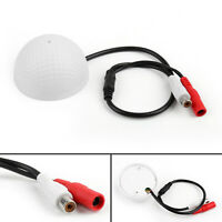 1Pc Mini Mic Audio CCTV Microphone Adapter Cable 12V DC For Security DVR Camera!