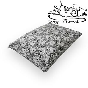 DOG TIRED – DOG CUSHION with Memory Foam, Pet Bed, Medium, Extra Large, 9Colours