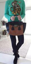 PRADA TRAPEZE Braun/Schwarz Tasche Glace Calf Twin Tasche