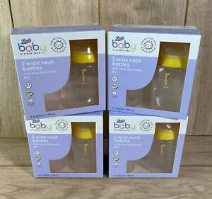 4 x Boots Baby Wide Neck Bottles Animal Pattern (8 x 260ml)  Anti-Colic 0+