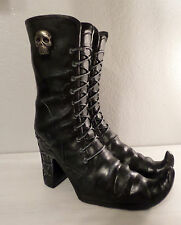 BLACK WITCH BOOTS HALLOWEEN PROP FLORAL HOLDER FALL HOME DECOR SKULL COBWEB NEW