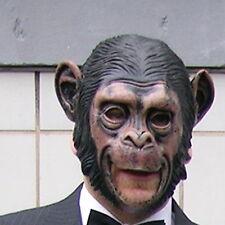 Affe Maske, Affenmaske, Schimpanse [ mit großem Mund zum Essen & Trinken ]