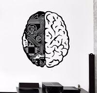 Vinyl Wall Decal Brain Chip Engineer Compute Geek Artificial Stickers (374ig)