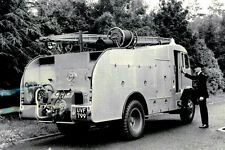 PHOTO TAKEN FROM 1950's IMAGE OF SPECIAL WATER TENDER - THETFORD FIRE BRIGADE