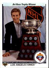 Wayne Gretzky 1990-91 Upper Deck NHL Hockey Card #205 Art Ross Trophy Winner
