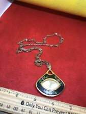 Swiss Made Sheffield Wind Up Mechanical Necklace Pendant Watch.  Missing Crown