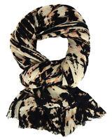 Ella Jonte Schal beige schwarz weich Damenschal Winterschal Herbst Winter Tuch