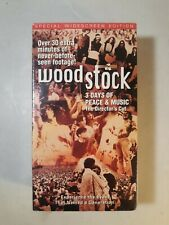 NEW Woodstock: Three Days of Peace & Music (VHS, 1994, 2-Tape Set)
