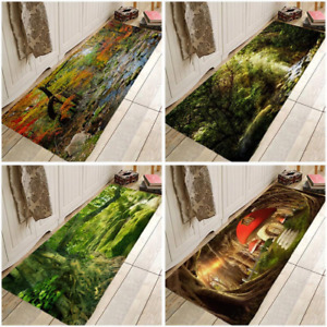 Landscape Tree Carpe Kitchen Rugs For Bedroom Living Room Bathroom Anti-Slip Mat