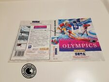 Winter olymic  - Jaquette cover - master system original