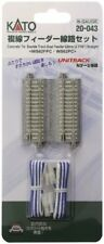 Kato N Scale UniTrack Train Track Double Straight Power Feeder Terminal 2-7/16in