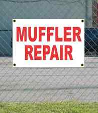 2x3 MUFFLER REPAIR Red & White Banner Sign NEW Discount Size & Price FREE SHIP