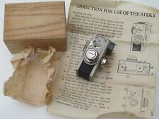 RARE Steky camera for 16mm film in NICKEL finish complete with IB/caps/BOX