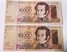 2002 10000 Diez Mil - Reb. of Boliva De Venezuela - 2 Note XF
