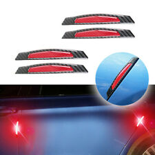 Red carbon fiber car accessories Door Scratch Bumper Scuff trim Stickers x 4