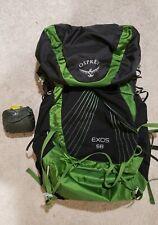 Osprey Exos 58 Pack - Ultralight - Size Medium w/ pack cover