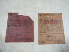 Antique 1928 & 1930 NY State Hunting Trapping Fishing Licenses USA Erie County