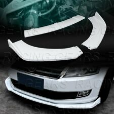 UNIVERSAL PAINTED WHITE FRONT BUMPER LOWER BODY KIT SPLITTER SPOILER LIP 3-PCS