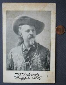 "RARE Circa-1900 Buffalo Bill's Wild West Show souvenir ""signed"" photo-VINTAGE!"