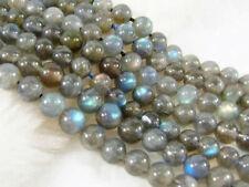 """Natural Labradorite 6mm Indian Gray Round Gemstones Loose Beads 15"""""""