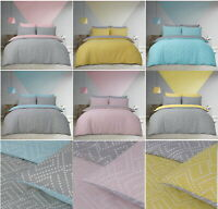 Square Dot Geo Cameo Duvet Set Reversible Quilt Cover & Pillow Cases All Size