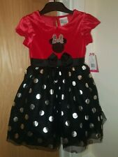 Disney Minnie Mouse Dress Kids Girls Birthday Fancy Dress Up Costume Halloween