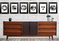 SET  OF 6 FORNASETTI A3 GICLEE PRINTS  CHIC ART  VINTAGE DESIGNER COLLECTABLE