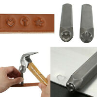 Various Metal Design Stamp Punch Heart Star Cross Punches Leathercraft Tool US