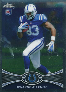 Dwayne Allen 2012 Topps Chrome #17 Indianapolis Colts RC Rookie Card